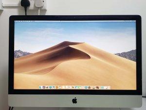 平售二手 iMac 27″ Late 2013 i5 8G 1TB 淨機 底座向前傾(送輔助支撐架) 框右邊有小崩 (已售出)
