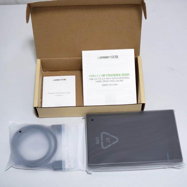 外置硬碟盒-USB3.0-Ugreen-2.5-inches