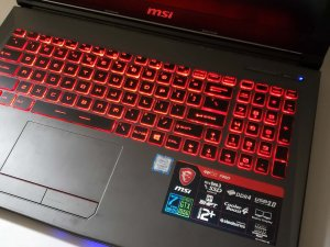 MSI GV62 7RD i7-7700HQ 8G RAM GTX 1050 128G PCI SSD +1TB Gaming Laptop 保用3日(已售出)
