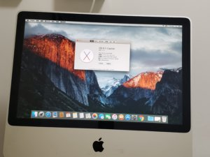 iMac(20 英吋,2008 年初)Core 2 Due 2.4Ghz 3G Ram 250G HDD 可以文書睇 youtube